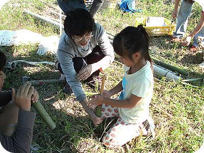 竹の水てっぽう作り