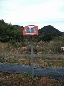 電気柵ソーラーパネル