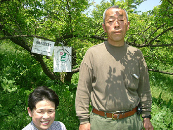 菊井果樹園の菊井新昭さん