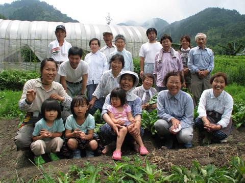 塔原生産者グループ(2008年7月)